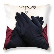 crossed hands Throw Pillow by Joana Kruse