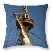 Crows Nest Throw Pillow by Skip Willits