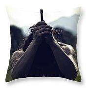Crucifix Throw Pillow by Joana Kruse