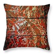 Crucifixion - Tile Throw Pillow by Gloria Ssali