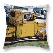 Cruising The Old Chevy Throw Pillow by Steve McKinzie