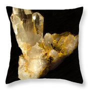 Crystal On Black Throw Pillow by Joyce Dickens
