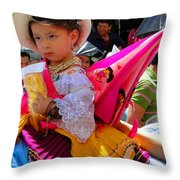 Cuenca Kids 116 Throw Pillow by Al Bourassa