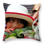 Cuenca Kids 15 Throw Pillow by Al Bourassa