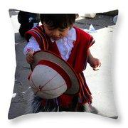Cuenca Kids 164 Throw Pillow by Al Bourassa