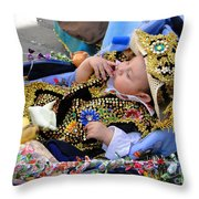 Cuenca Kids 169 Throw Pillow by Al Bourassa