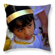 Cuenca Kids 189 Throw Pillow by Al Bourassa