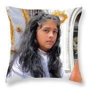 Cuenca Kids 22 Throw Pillow by Al Bourassa