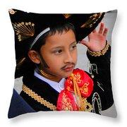Cuenca Kids 28 Throw Pillow by Al Bourassa