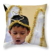 Cuenca Kids 34 Throw Pillow by Al Bourassa