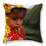 Cuenca Kids 35 Throw Pillow by Al Bourassa