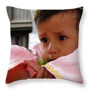 Cuenca Kids 4 Throw Pillow by Al Bourassa