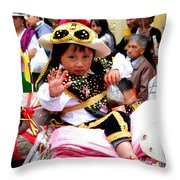 Cuenca Kids 49 Throw Pillow by Al Bourassa