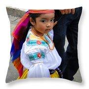 Cuenca Kids 5 Throw Pillow by Al Bourassa
