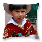 Cuenca Kids 54 Throw Pillow by Al Bourassa