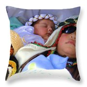 Cuenca Kids 61 Throw Pillow by Al Bourassa
