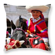 Cuenca Kids 62 Throw Pillow by Al Bourassa