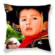 Cuenca Kids 64 Throw Pillow by Al Bourassa