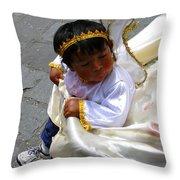 Cuenca Kids 75 Throw Pillow by Al Bourassa