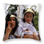 Cuenca Kids 77 Throw Pillow by Al Bourassa
