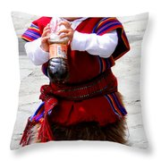 Cuenca Kids 79 Throw Pillow by Al Bourassa