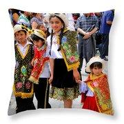 Cuenca Kids 80 Throw Pillow by Al Bourassa