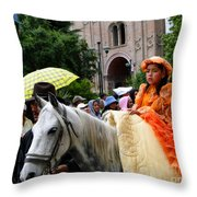 Cuenca Kids 83 Throw Pillow by Al Bourassa