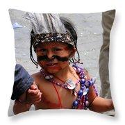 Cuenca Kids 85 Throw Pillow by Al Bourassa