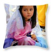 Cuenca Kids 96 Throw Pillow by Al Bourassa