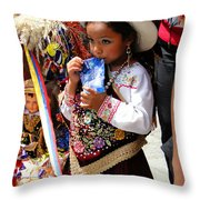 Cuenca Kids 97 Throw Pillow by Al Bourassa