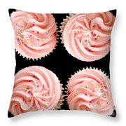 Cup Cakes Throw Pillow by Jane Rix