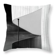 Curved Balcony Throw Pillow by Dave Bowman
