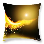 Curved  Lighting  Throw Pillow by Setsiri Silapasuwanchai