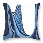 Curves - ArchiFou 42 Throw Pillow by Aimelle