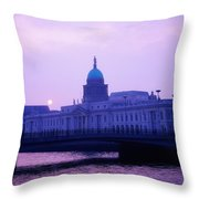 Custom House, Dublin, Co Dublin, Ireland Throw Pillow by The Irish Image Collection
