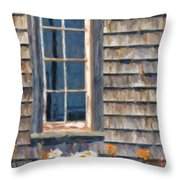 Daisies And Daylilies Throw Pillow by Verena Matthew