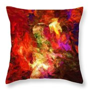 Damnation Throw Pillow by David Lane