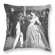 Dance, 19th Century Throw Pillow by Granger