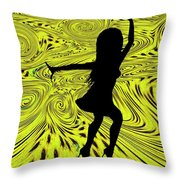 Dance Throw Pillow by Bill Cannon
