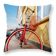 Danish Bike Throw Pillow by Robert Lacy