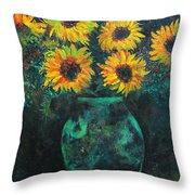 Darkened Sun Throw Pillow by Carrie Jackson