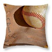Dave Cash Mitt Throw Pillow by Bill Owen