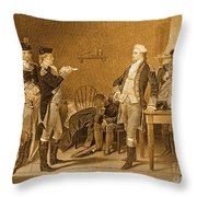 Death Warrant Of Major John Andre, 1780 Throw Pillow by Photo Researchers