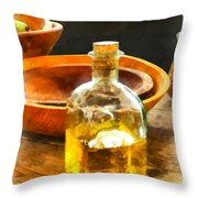 Decanter Of Oil Throw Pillow by Susan Savad
