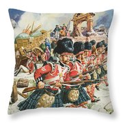 Defence Of Corunna Throw Pillow by C L Doughty