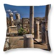 Delos Island Throw Pillow by David Smith