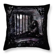 Deranged Throw Pillow by Rachel Christine Nowicki