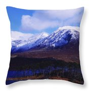 Derryclare Lough, Twelve Bens Throw Pillow by The Irish Image Collection