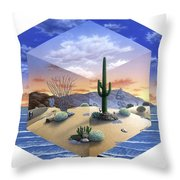 Desert On My Mind 2 Throw Pillow by Snake Jagger