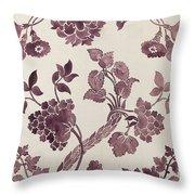 Design For A Silk Damask Throw Pillow by Anna Maria Garthwaite